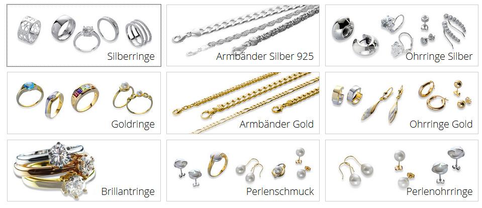 Silberringe im Schmuck Online-Shop