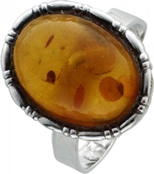 Bernstein Ring poliertes Silber Sterlingsilber 925/- matter Bernstein kann verstellt werden, 18 mm und grösser