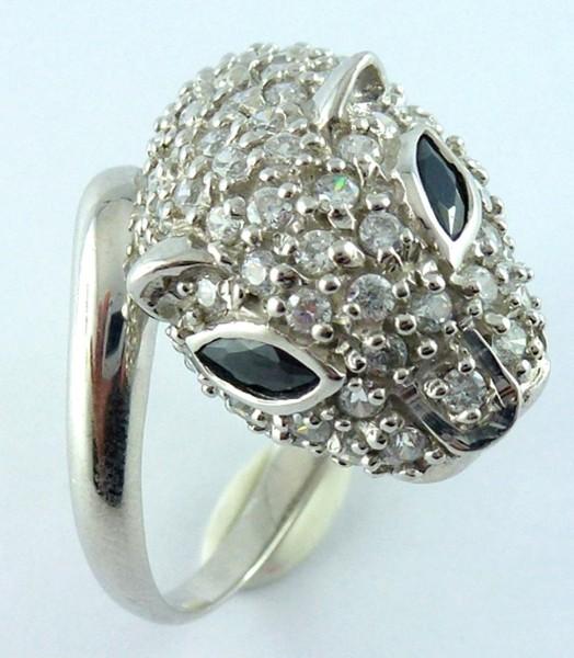 Ring 925er Sterling Silber 2 Saphire 100...