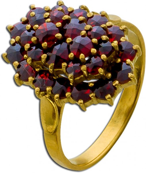 Ring Edelsteinring Silber 900 vergoldet ...