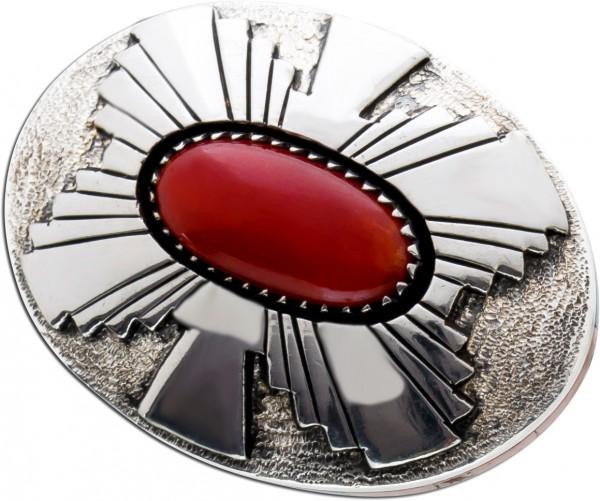 Antiker Ring Silber 925 Edelstein rot bl...