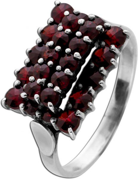 Antiker Granat Edelstein Ring Silber 24 Böhmische Granat Edelsteine Gr.17,8mm