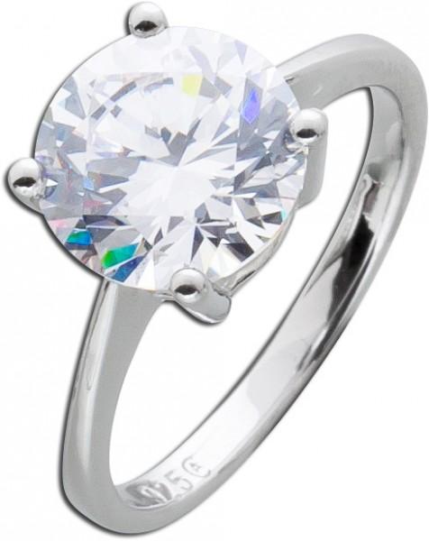 Silberring weißem Zirkonia Silber 925 Damenschmuck