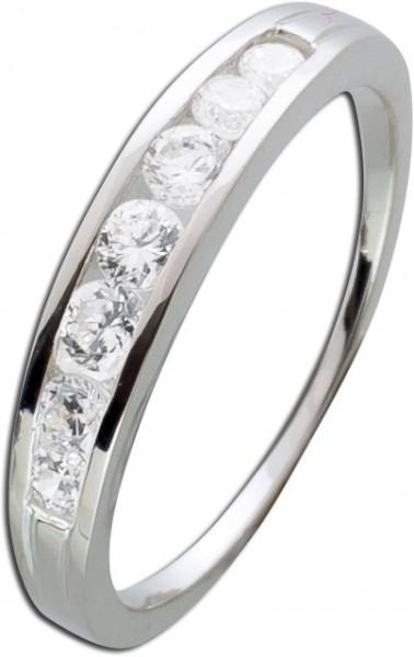 Silberring weißen Zirkonia Silber 925 D...