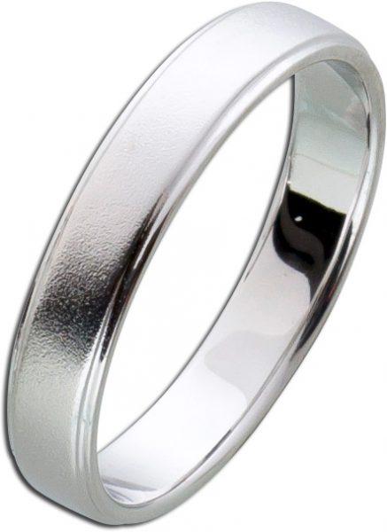 Partnerring Damen Herren Silberring Ring Sterling Silber 925 Sandmatt Damenschmuck Herrenschmuck