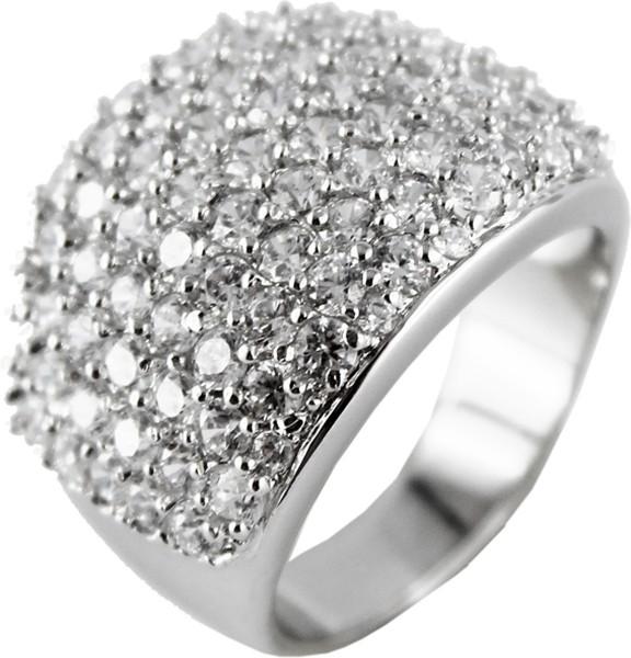 Zirkoniaring Silberring weisse Zirkonia Silber 925 Damenring poliert