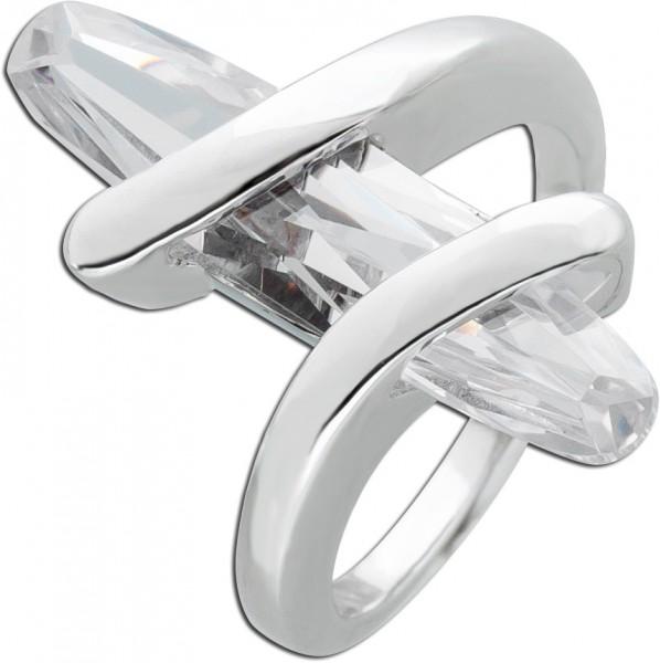 Designer Ring Silberring Zirkoniaring Si...