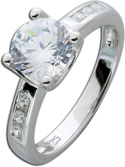 Memoire Zirkoniaring weiß Sterling Silber 925  Damenschmuck