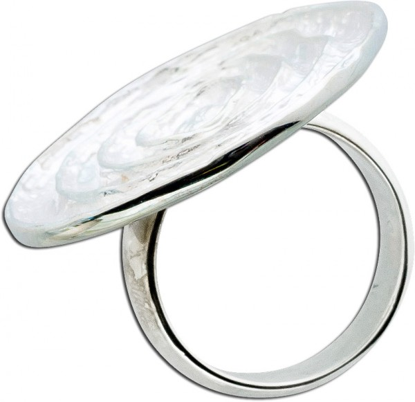 Ring Sterling Silber 925 poliert geriffe...