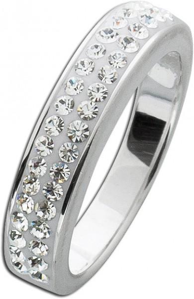 Memoire Ring Silber 925 weiss Kristalle