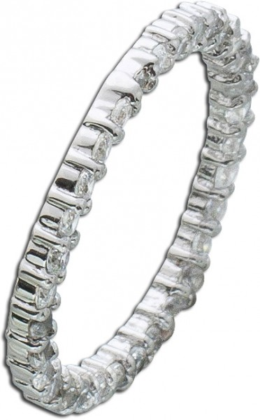 Ring Sterling Silber 925 weiße Zirkonia...