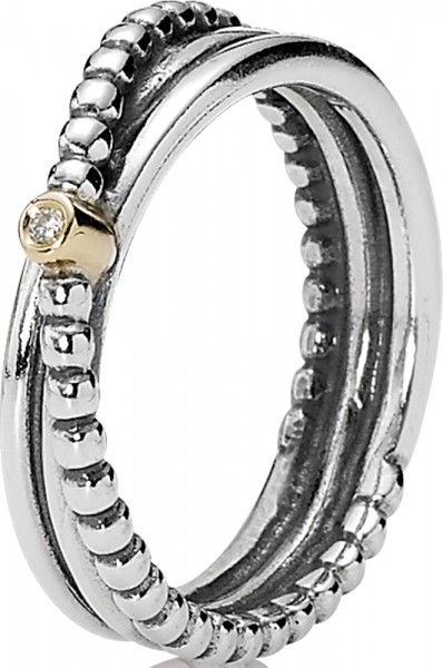 PANDORA Ring 190243D Glatter Metallperle...