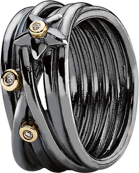 190846D PANDORAring schwarz rhodiniert, ...