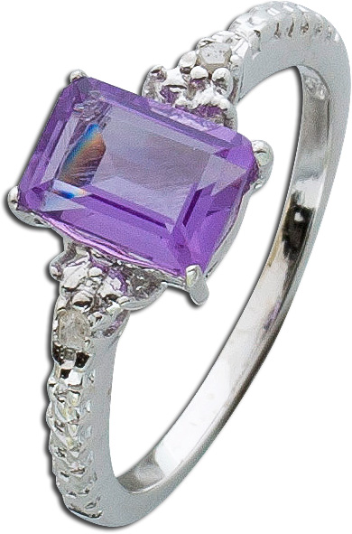 Ring Amethyst – Silberring Sterlin...
