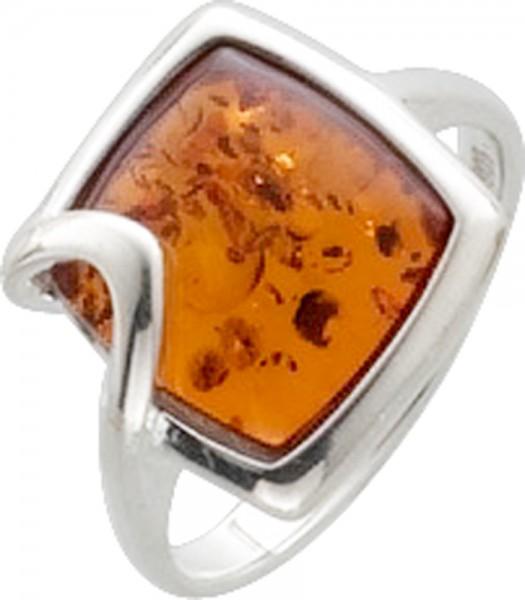 Wunderschöner Ring mit echtem, hellem gold schimmernden Bernstein besetzt, eingefasst in Silber Sterlingsilber 925/-. Ringkopfbreite 13X13mm, Ringschiene Breite 2,0 mm, Stärke 1,2 mm, hochglanzpoliert. Ein edles Accessoire für alle, die das Besondere lieb