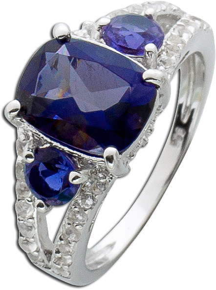 Ring Sterling Silber 925 Iolite Topas