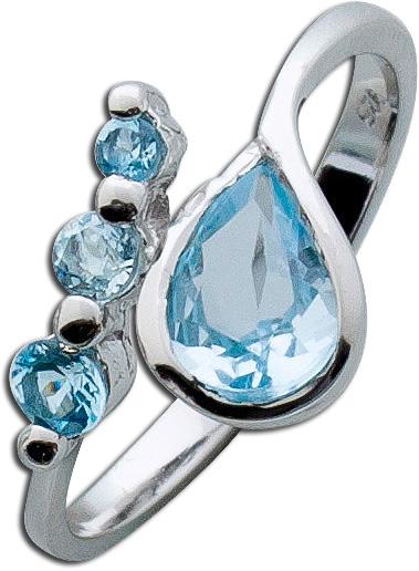 Edelsteinring – Blautopasring Ster...