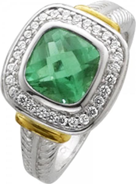 Ring in Silber Sterlingsilber 925/-grün...