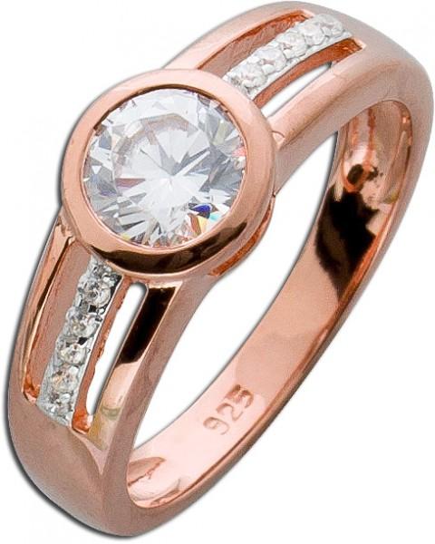 Ring Sterling Silber 925 rosévergoldet ...