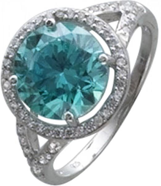 Ring Silber Sterlingsilber 925/-mit mintgrünem SwarovskiElements verarbeitet