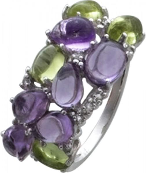 Mit echtem Amethyst in violett und grün...