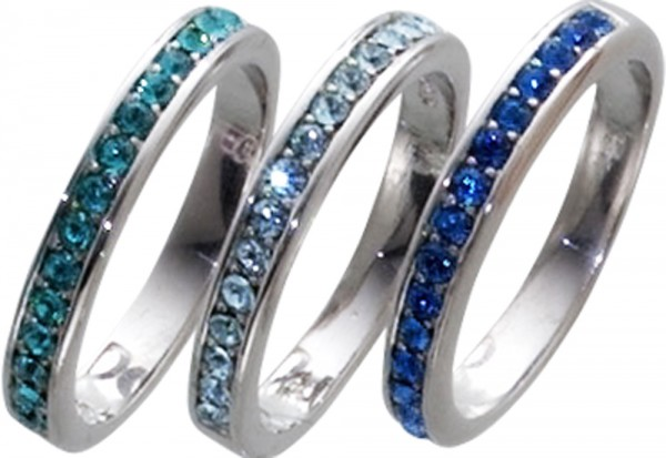 Ring 925er Sterling Silber Swarovski Ele...