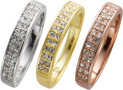 Ring in Silber Sterlingsilber 925/-,  3-...