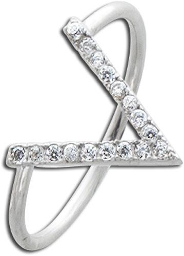 Ring Silber 925 Silberschmuck weiße Zir...