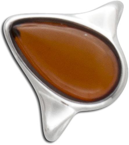 Ring  in  Silber Sterlingsilber 925/- rhodiniert mit Bernstein