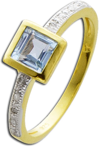 Ring aus Silber Sterlingsilber gelbvergo...