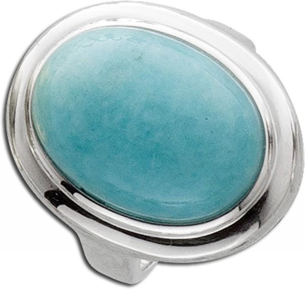 Silberring hellblau Silber 925/- Amazonit cabochon blau