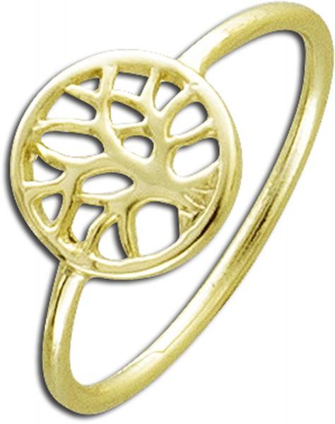 Ring Silber Sterlingsilber gelbvergoldet...
