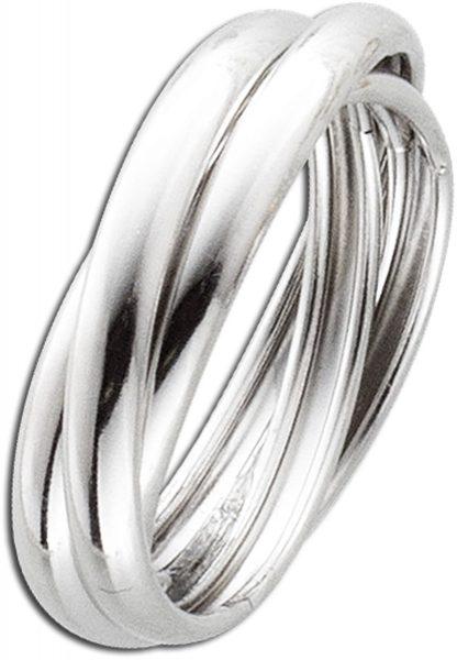 3er Ring Dreifachring Silber Damen Ring Sterlingsilber 925 Damenschmuck 3 teilig