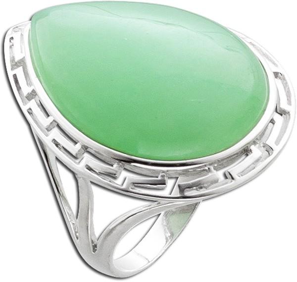 Ring Sterling Silber 925 grüne Jade