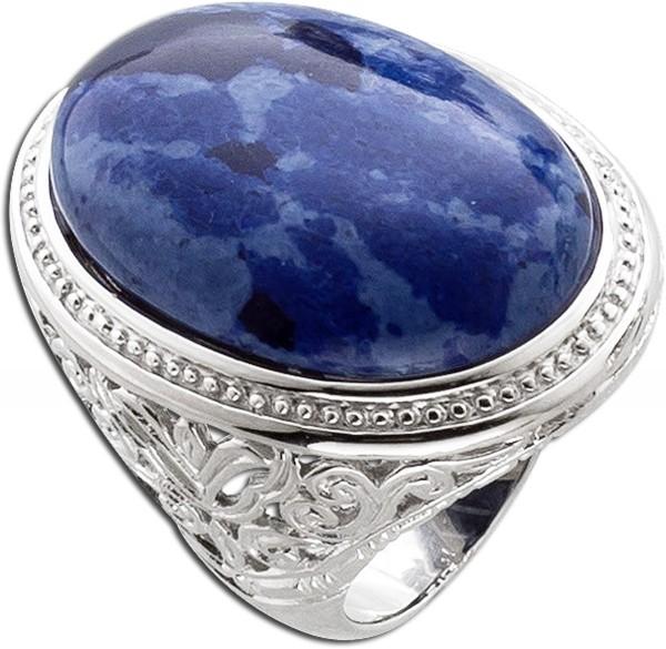 Ring Silber blauer Edelstein – Ste...