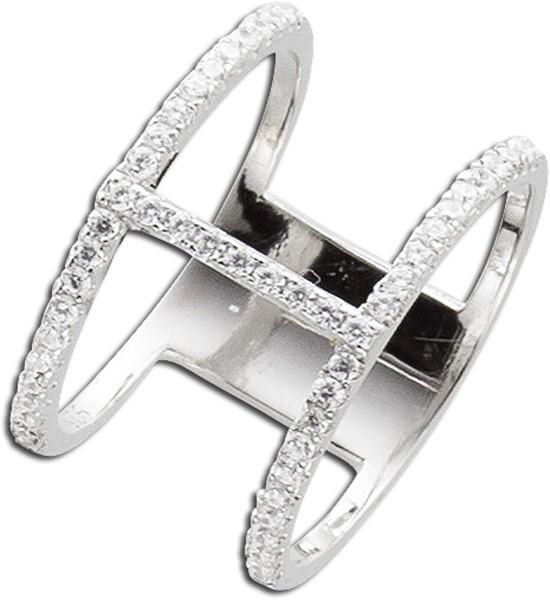 Ring Silber Sterlingsilber 925 ca 40 Zir...