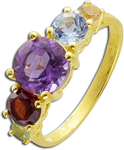 Ring in Silber Sterlingsilber 925 gelb v...