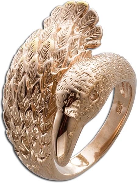 Ring Silber 925 roségold vergoldet Schwan Damenring