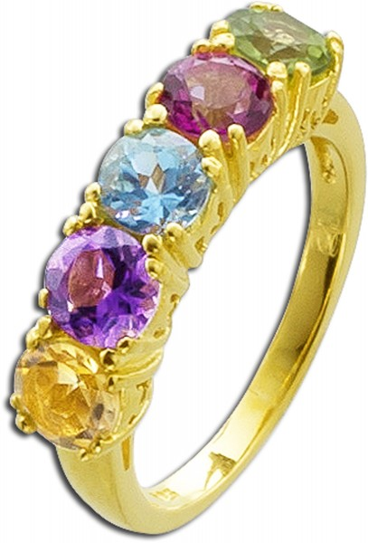 Ring Sterling Silber 925 gelbvergoldet A...