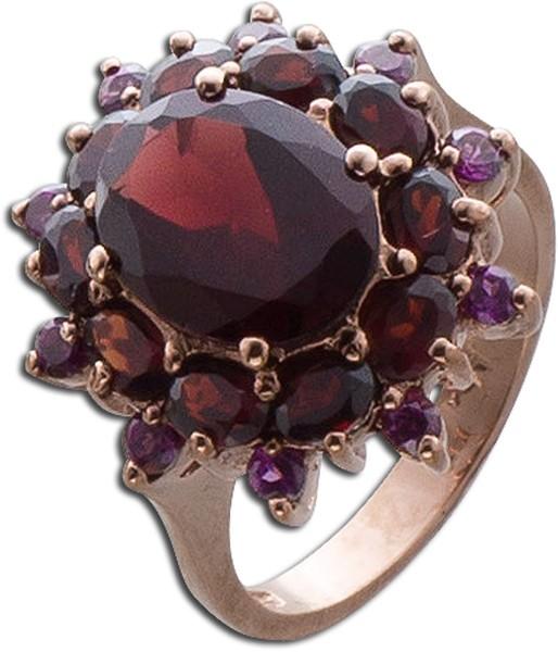 Silberring roter Edelstein  Ring Silber ...