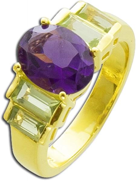 Ring mit Edelstein Sterling Silber 925 g...