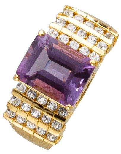 Amethyst Ring SterlingSilber 925 gelb ve...