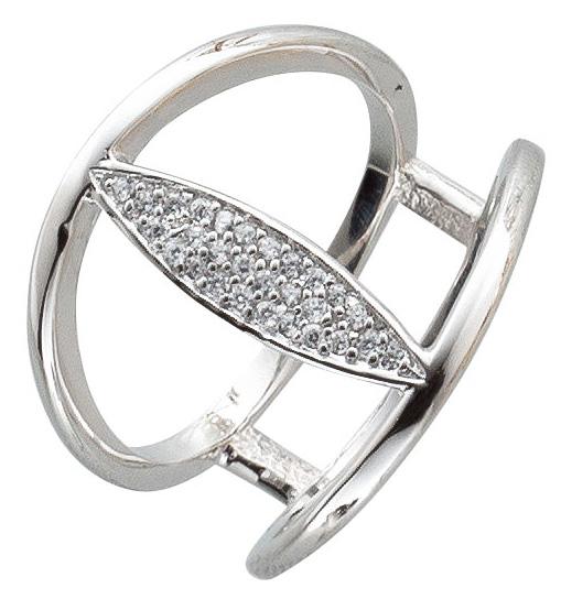 Offener Ring SterlingSilber 925  Zirkoni...