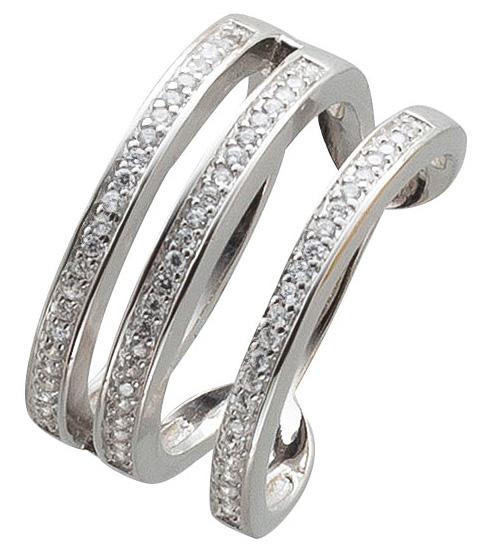 Offener Damen Ring Sterling Silber 925 Z...