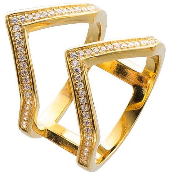 Offener Ring Sterling Silber 925 vergold...
