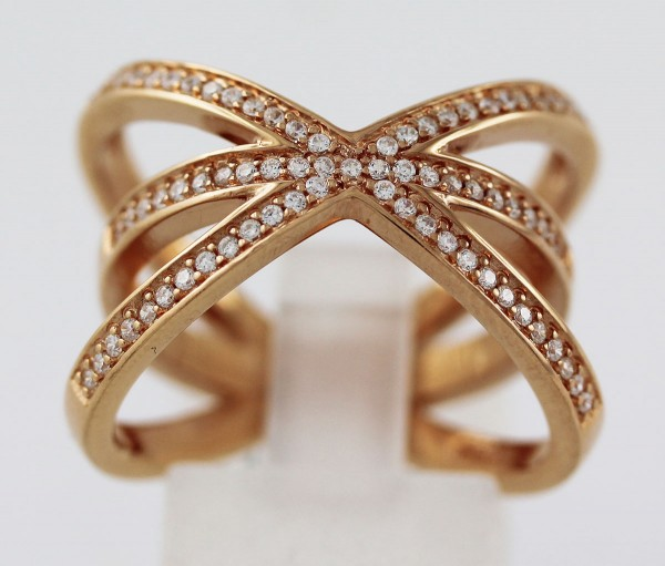 X Ring Sterling Silber 925 rose vergolde...