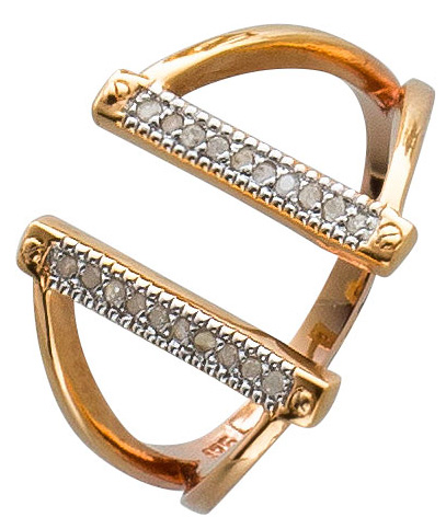 Diamant Ring offen rosegold vergoldet Si...