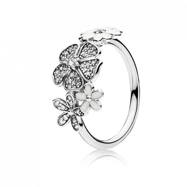 PANDORA Ring 190984CZ Blumen Bouquet Des...