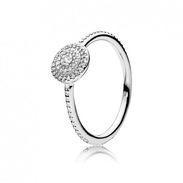 PANDORA SALE – Ring 190986CZ Strahlende Eleganz Silber Sterlingsilber 925/- klare Zirkonia Designer Ring