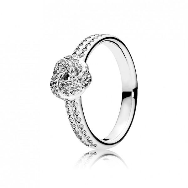 PANDORA SALE – Ring 190997CZ Funkelnder Liebesknoten cubic Zirkonia Silber Sterlinssilber 925/-
